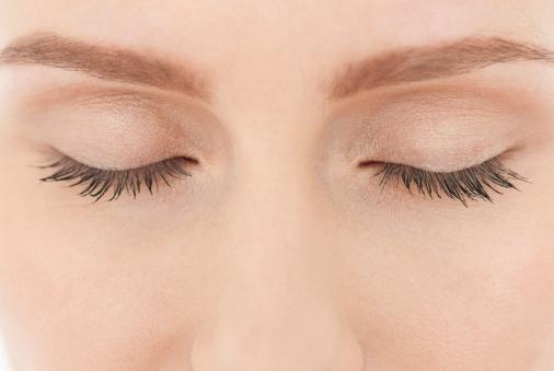 Close up of woman visualzing